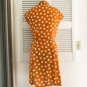 City Streets Dresses - Orange and White Polka Dot Dress